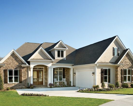 Traditional Exterior One Story Design Pictures Remodel Decor