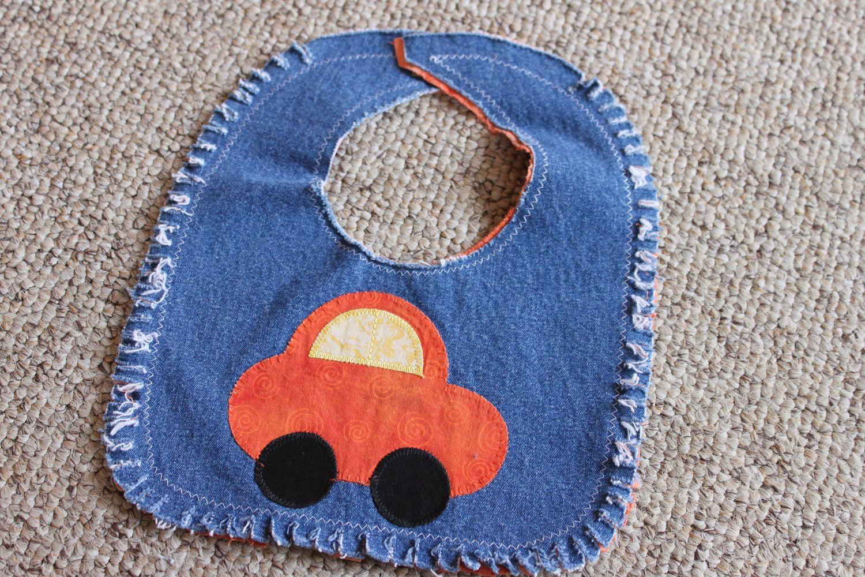 Recycled denim jeans baby bib. $8.00, via Etsy. | Upcycled ...