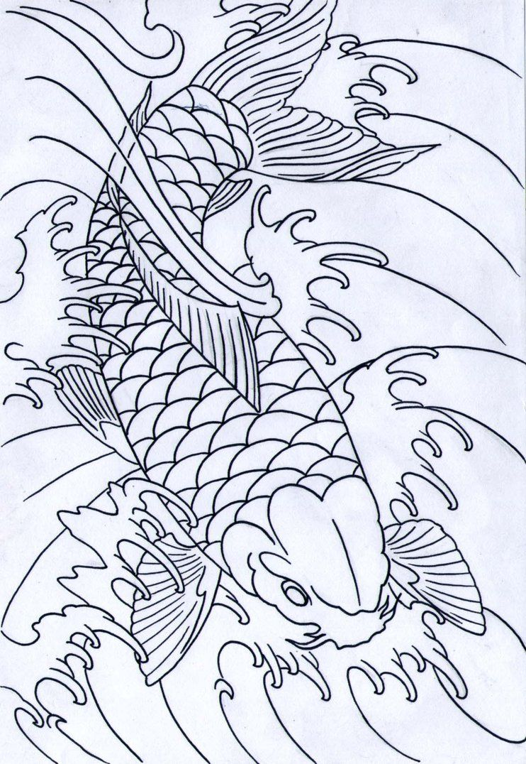 Pin Koi Fish Outline Tattoo Best Eye Catching Tattoos on ...