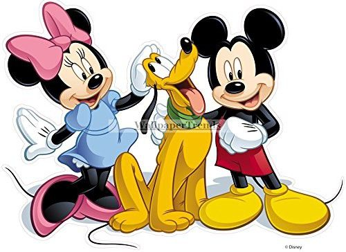 12 Inch MICKEY MINNIE MOUSE Pluto Removable Wall Decal Sticker Art ...