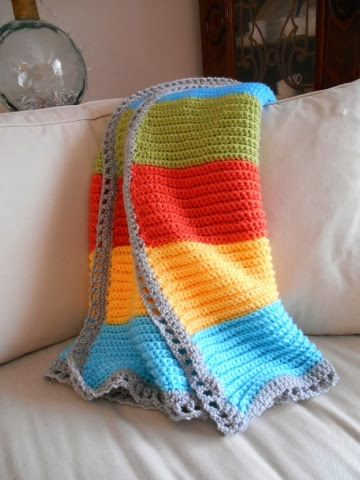 Greenhill Lane Designs: A Crocheted Baby Blanket | Crocheting ...