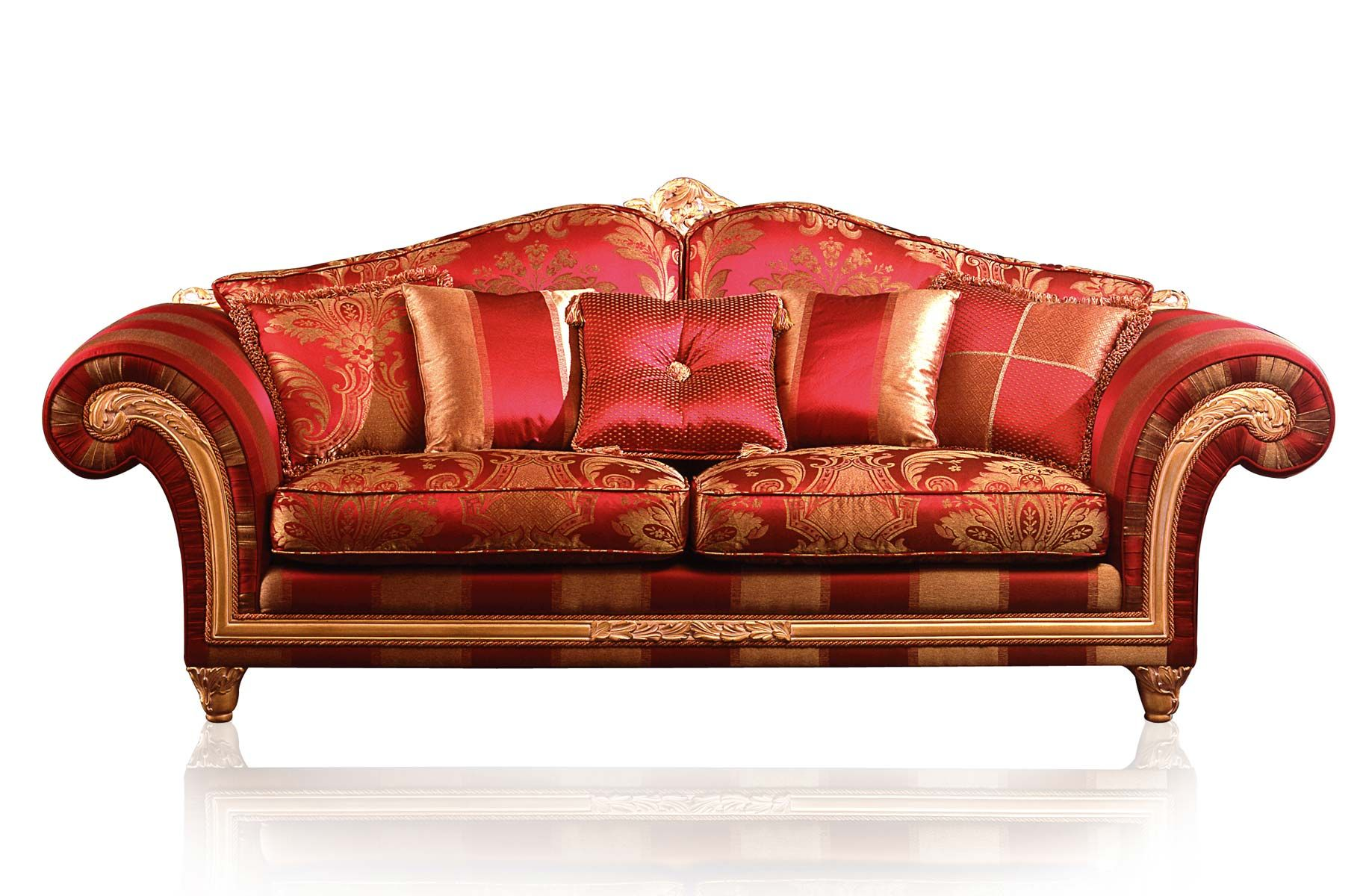 Sofas: Luxury Classic Sofa And Armchairs Imperial By Vimercati Media In  Red, Classic English Home Decor, Classic Sofas,
