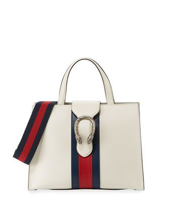 3efee575805 Dionysus+Medium+Web-Stripe+Top-Handle+Bag