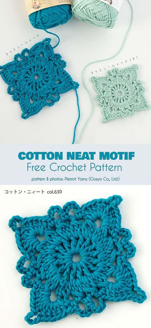 Cotton Neat Motif Free Crochet Pattern