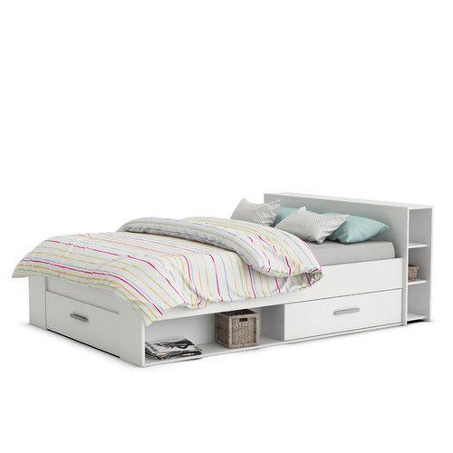 Bett Kenny Mit Stauraum 140 X 190 Cm Mit Bildern Bett 120x200 Bett Mit Aufbewahrung Bett 120