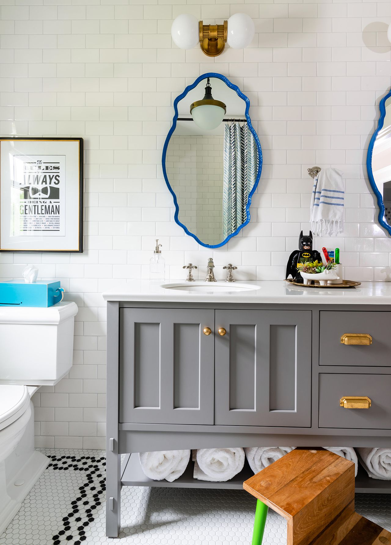 19 Budget Friendly Home Renovation Ideas For Every Room In Your House In 2020 Grey Wall Decor Decor Decorating Bathroom