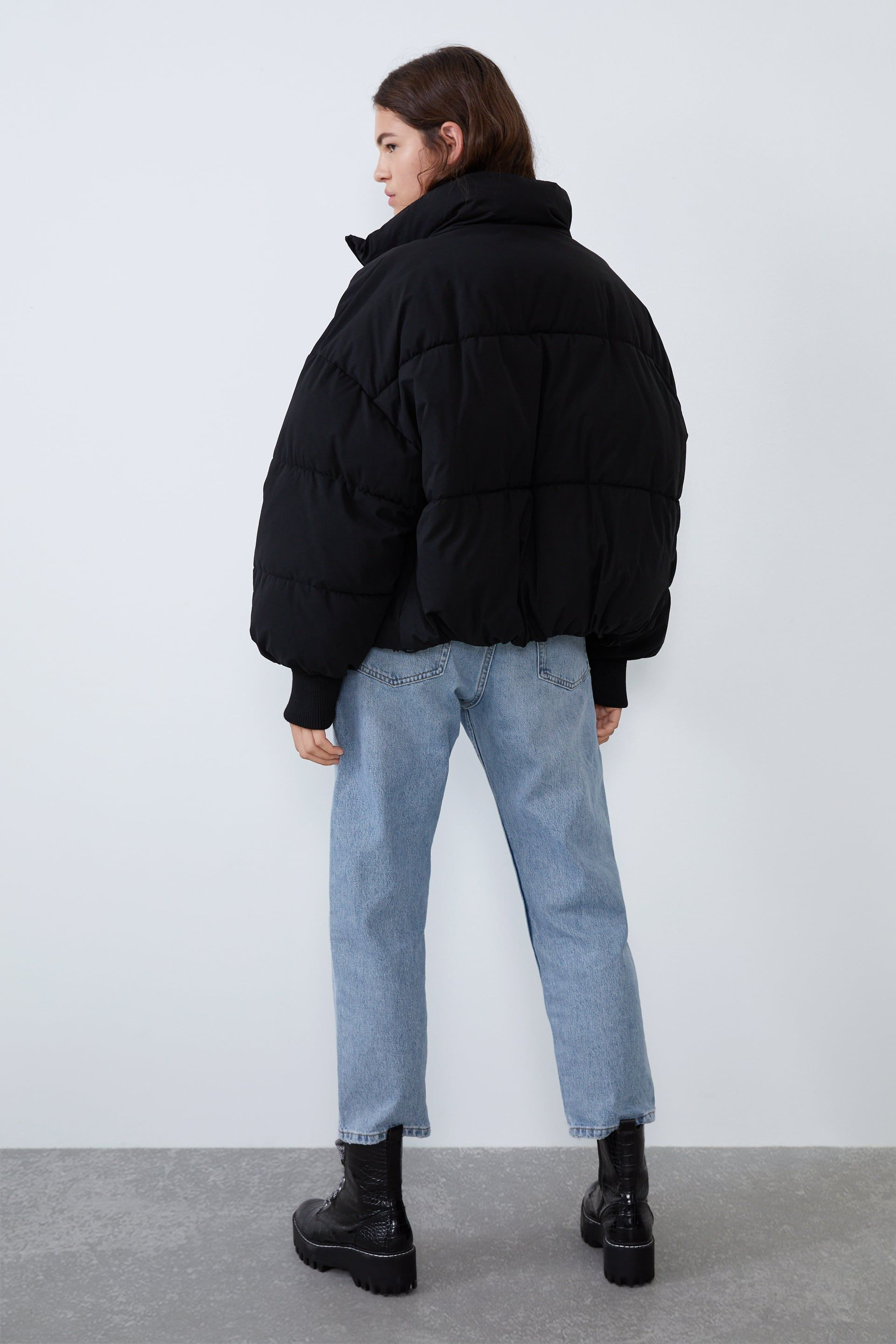 Oversized Puffer Jacket View All Coats Woman Zara United States Puffer Jacket Outfit Puffer Jacket Style Oversized Puffer Jacket [ 2880 x 1920 Pixel ]