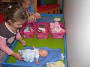 Imaginative Play – Baby Care Corner #dollcare
