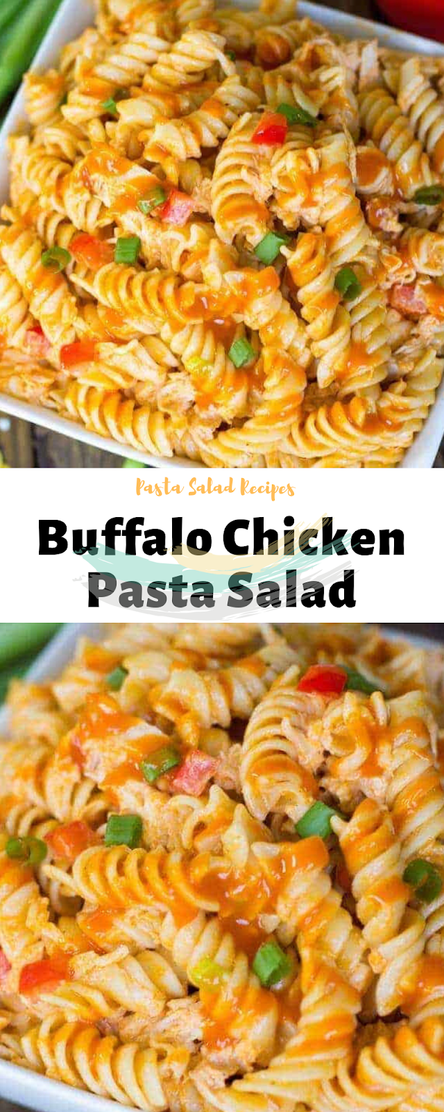 Pasta Salad Recipes | Buffalo Chicken Pasta Salad #buffalochickenpastasalad