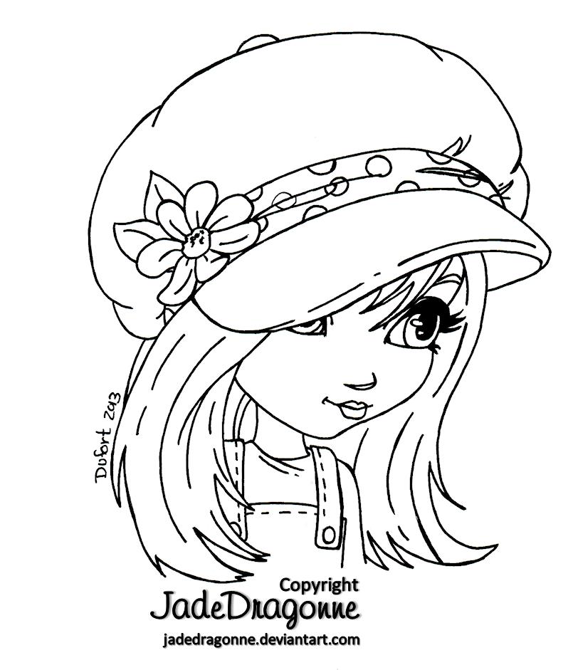 The Hat - Lineart by JadeDragonne.deviantart.com on @deviantART ...
