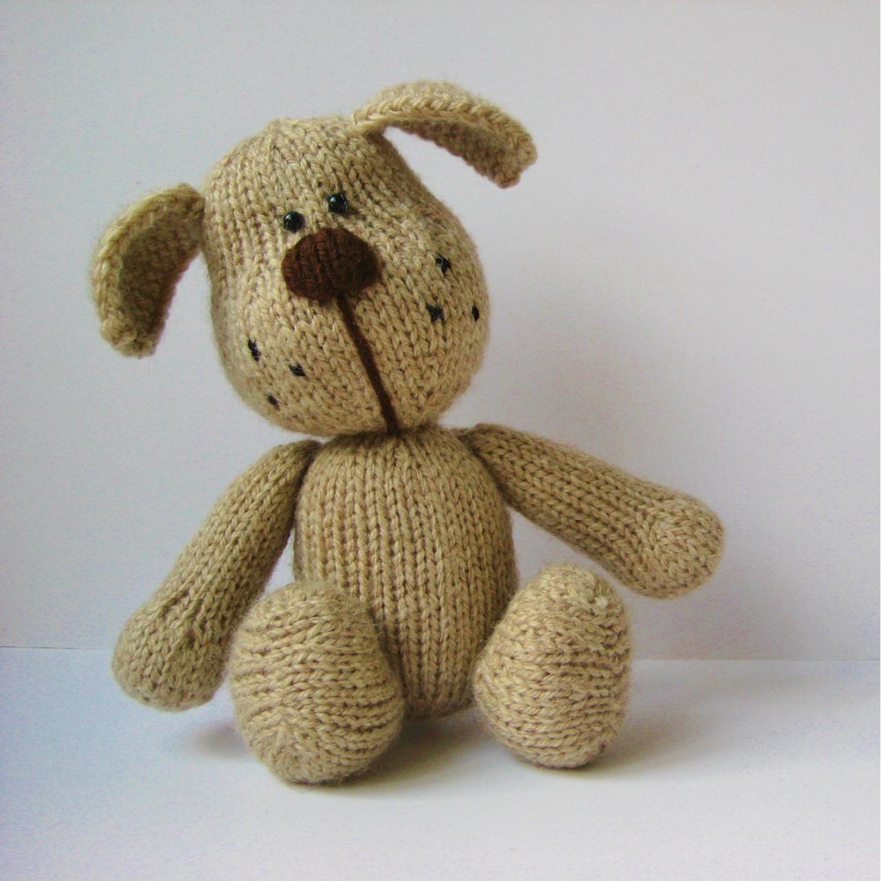 Bernie The Dog Toy Knitting Pattern Baby Present Ideas Pinterest