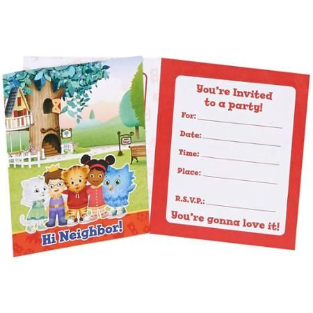 Daniel Tigers Neighborhood Invitations