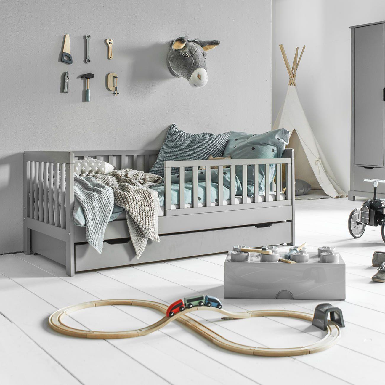 Lit Enfant 2 Ans Plume 70x140 Gris Lit Enfant Idee Deco