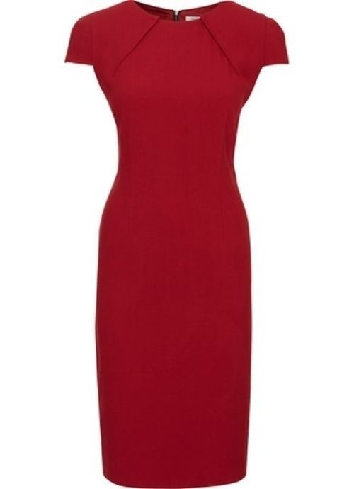 Austin Reed Signature Red Crepe Wool Dress Uk 8 6 Dresses Pencil Sheath Zipper Austinreed Sheath Weartowork Dresses Stylish Dresses Little Red Dress