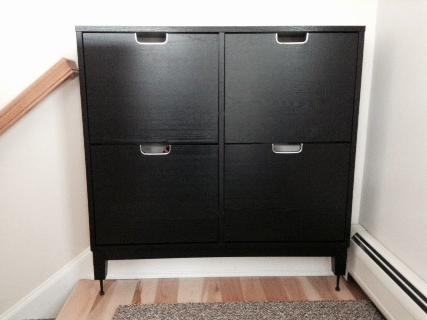 Stall Shoe Cabinet Hack For Tall Baseboards Ikea Hemnes Shoe