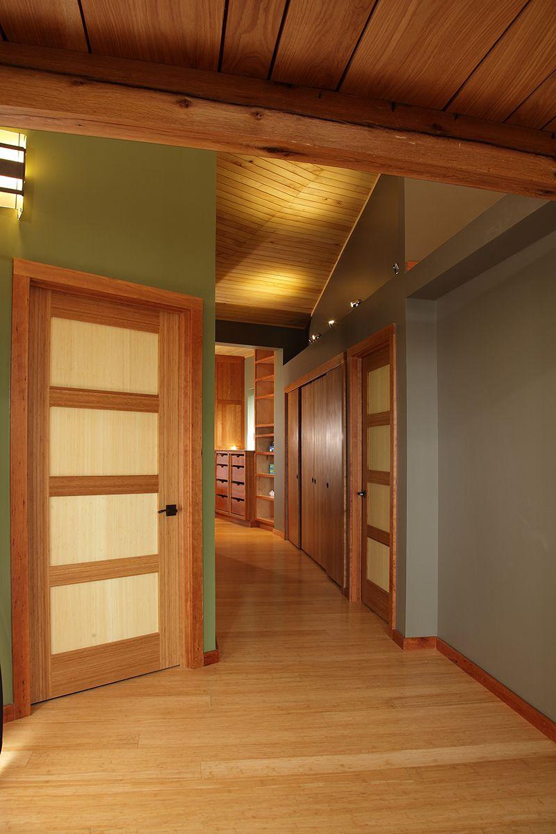 Custom Green Leaf Bamboo Doors