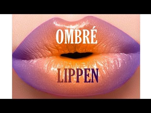 Ombre Lippen - Photoshop Tutorial - YouTube