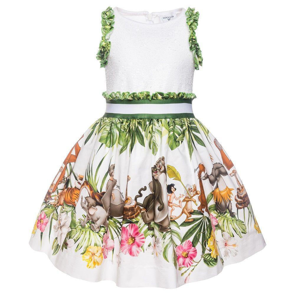 3475a693f Monnalisa Sequin Jungle Book Dress