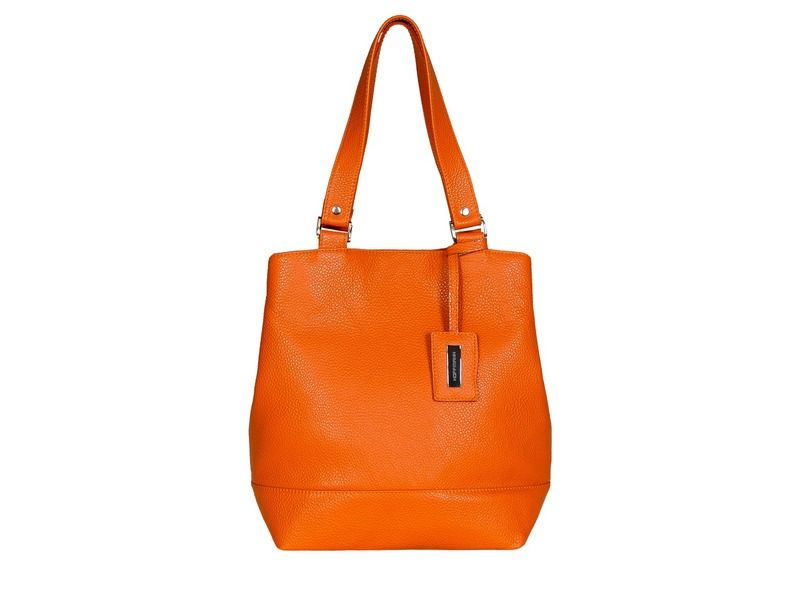 Orange leather handbag Trappe HOFFMANN van HOFFMANN  -  Leather handbags made individually op DaWanda.com