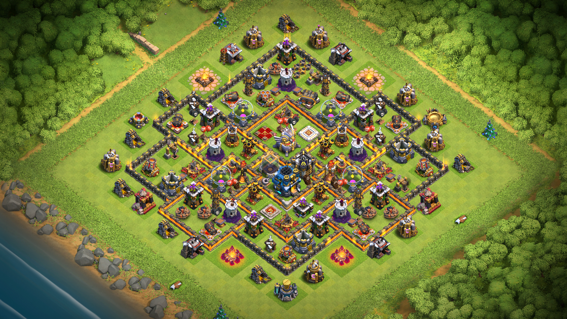 Coc Th 11 Best Defence Base 2019 1