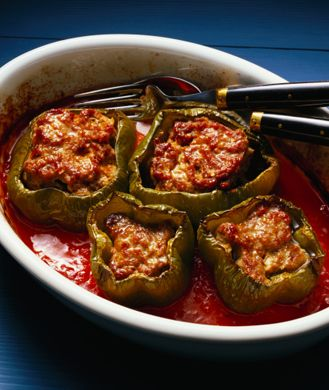 Overstuffed Healthy Peppers