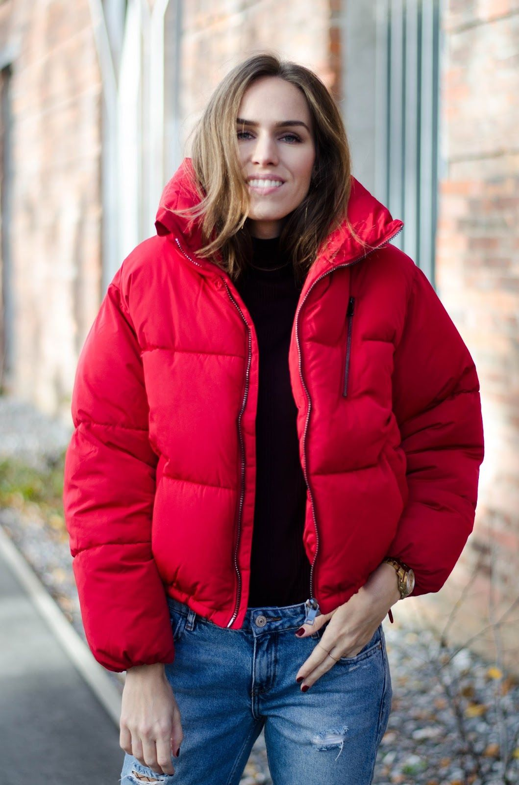 red puffer jacket fall 2016 outfit | My Style & Outfits ...
