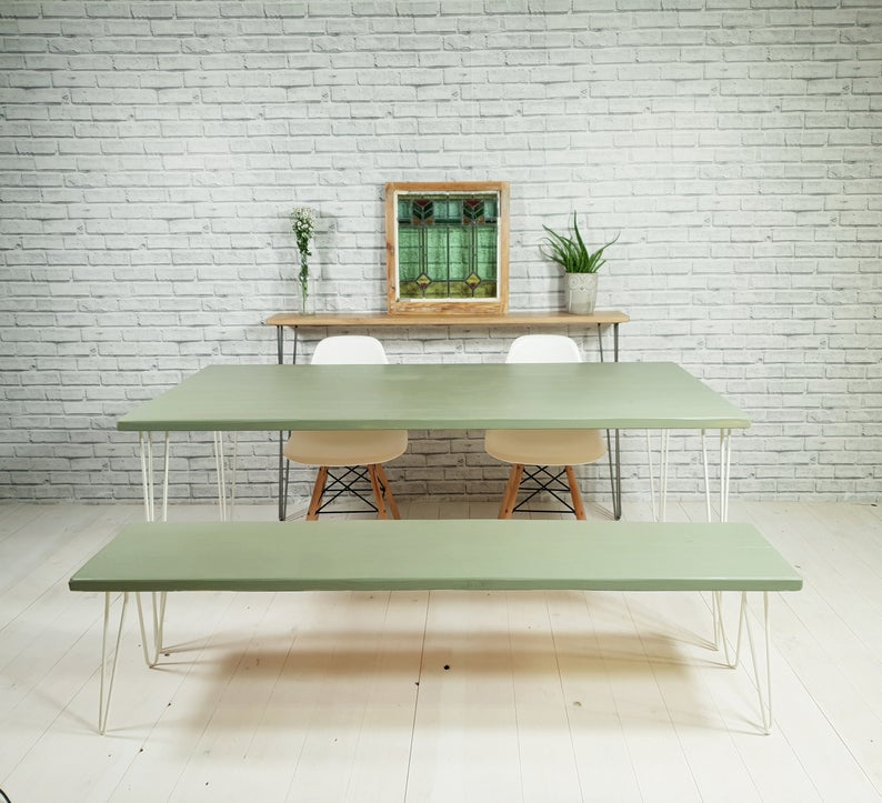 Best Farrow And Ball Lichen Dining Table A Modern Kitchen 400 x 300