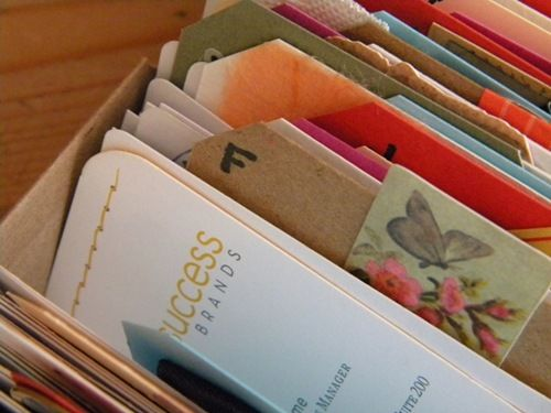 Creative business card storage craft ideas pinterest creative business card storage reheart Choice Image