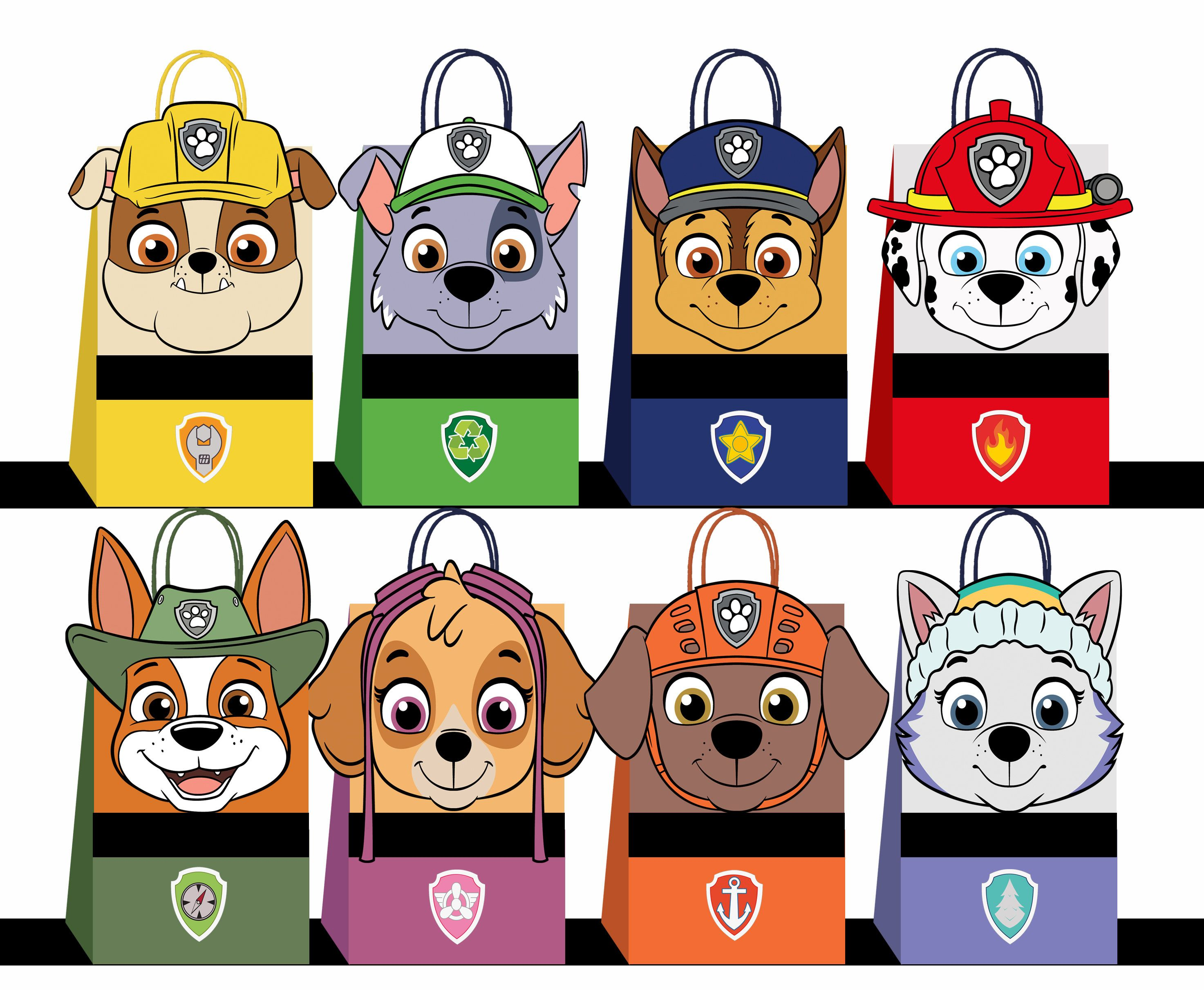Paw Patrol Favor Bags Paw Patrol Party Bags Printable Paw Patrol Diy Gift Bag Paw Patrol Birthday Printable Digital Files Paw Patrol Favors Paw Patrol Birthday Paw Patrol Gifts