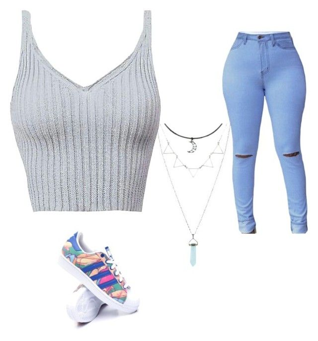 """😍"" by tulsaalexander ❤ liked on Polyvore featuring adidas"