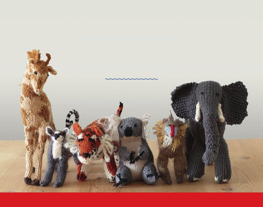 KNIT YOUR OWN ZOO - Sample Pattern of fruit bat!