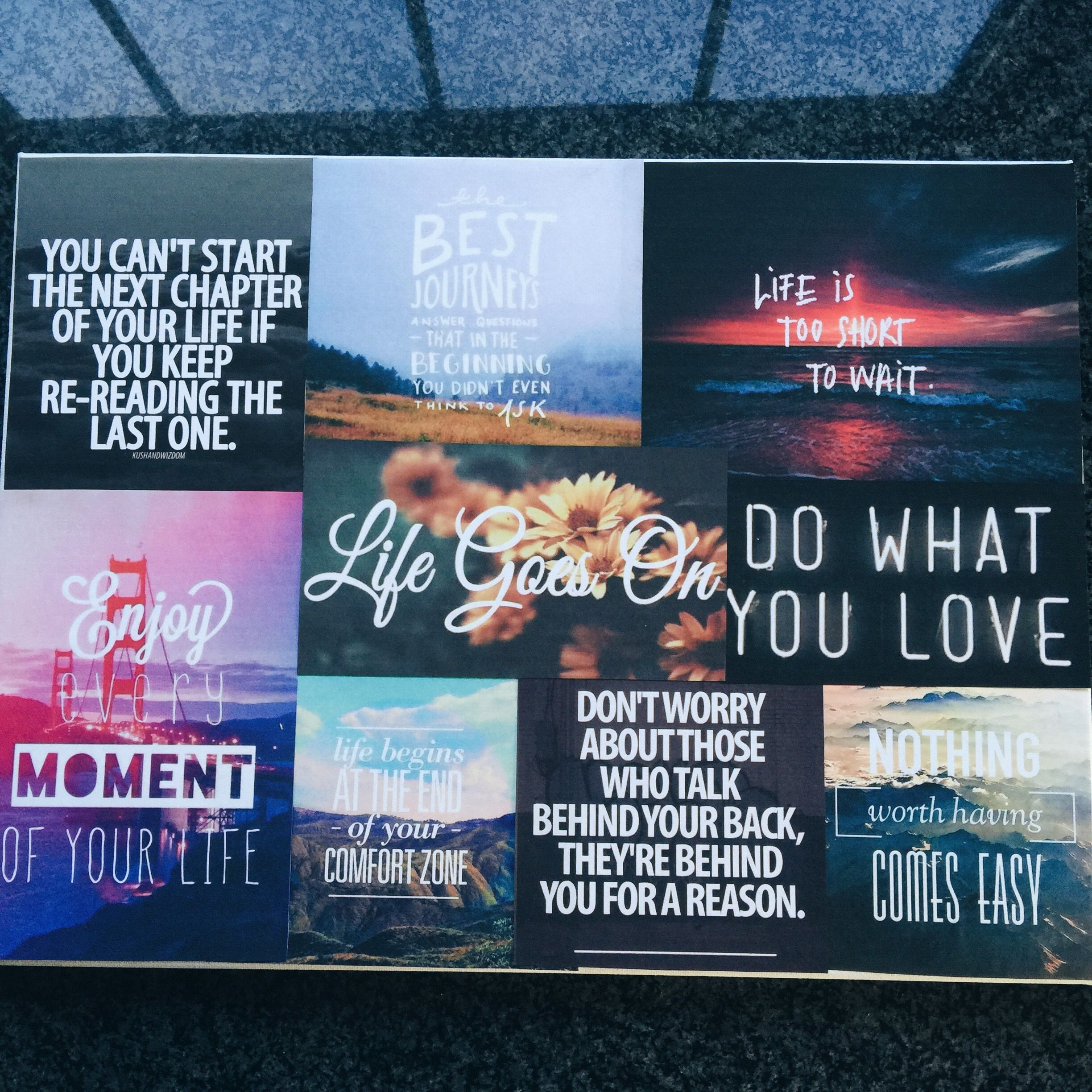 DIY canvas quotes project.