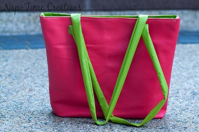 Free Sewing Pattern: Pleather Summer Tote | Free Sewing Patterns ...
