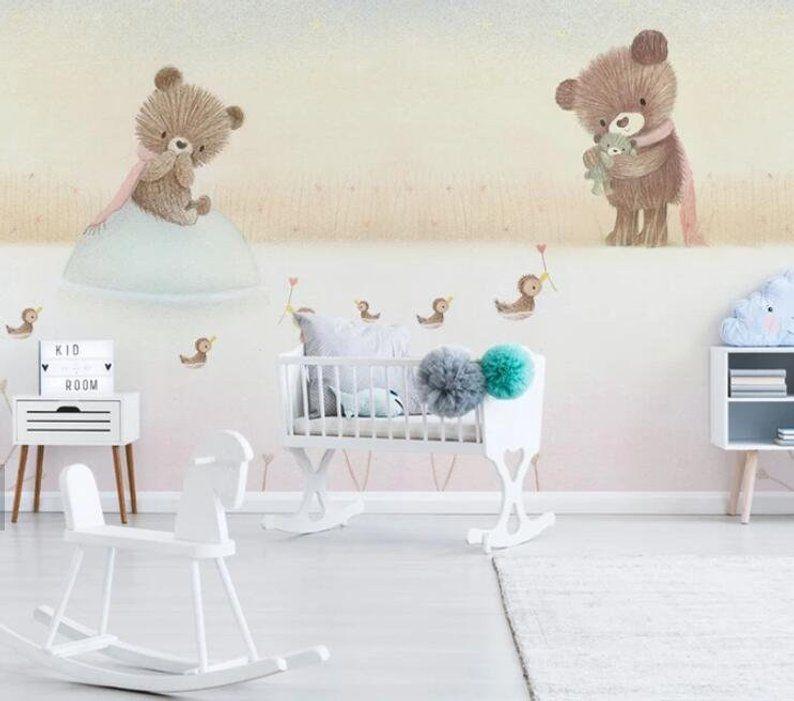 3D Kids, Cartoon, The bear family WallpaperNursery