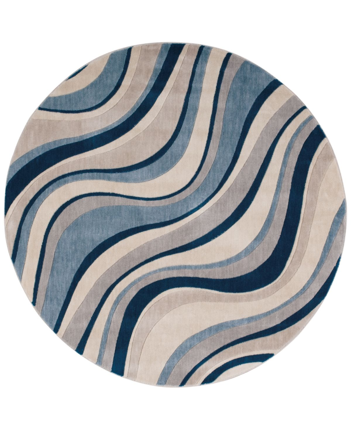 Nourison Closeout Somerset Wave 5 6 Round Rug Reviews Rugs