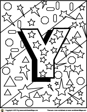 Letter Y Coloring Page Alphabet Coloring Lettering Coloring Pages