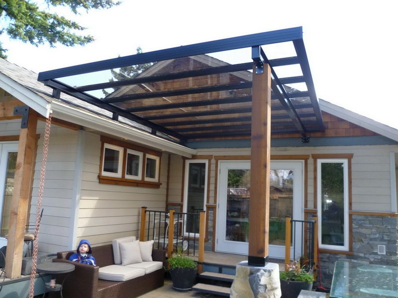 EconoWise Sunrooms U0026 Patio Covers   Roof Mounted Bronze Glass Patio Cover