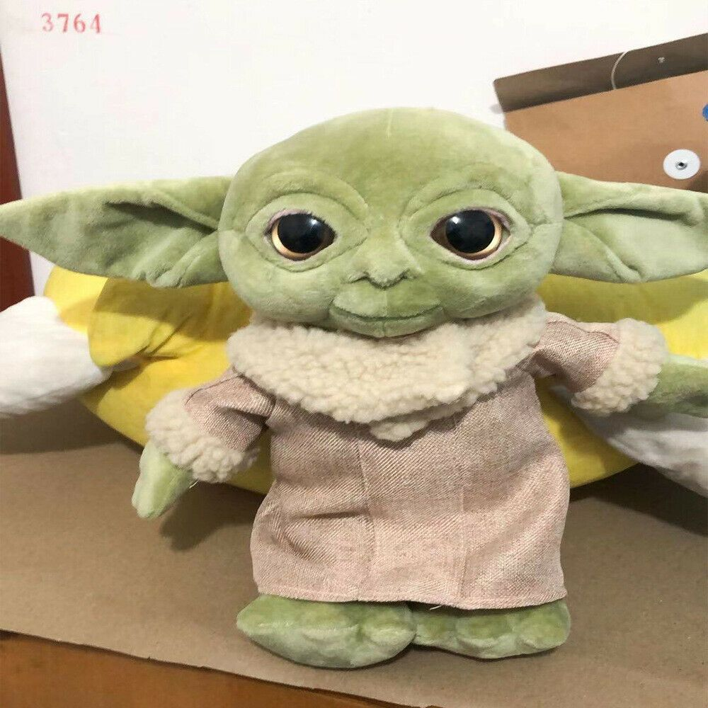 Baby Yoda Plush In 2020 Baby Animals Plush Toy Plush Dolls