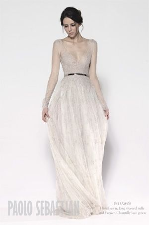 9ab4eef904 Delicate Wedding Dress by Paolo Sebastian by Tetiana