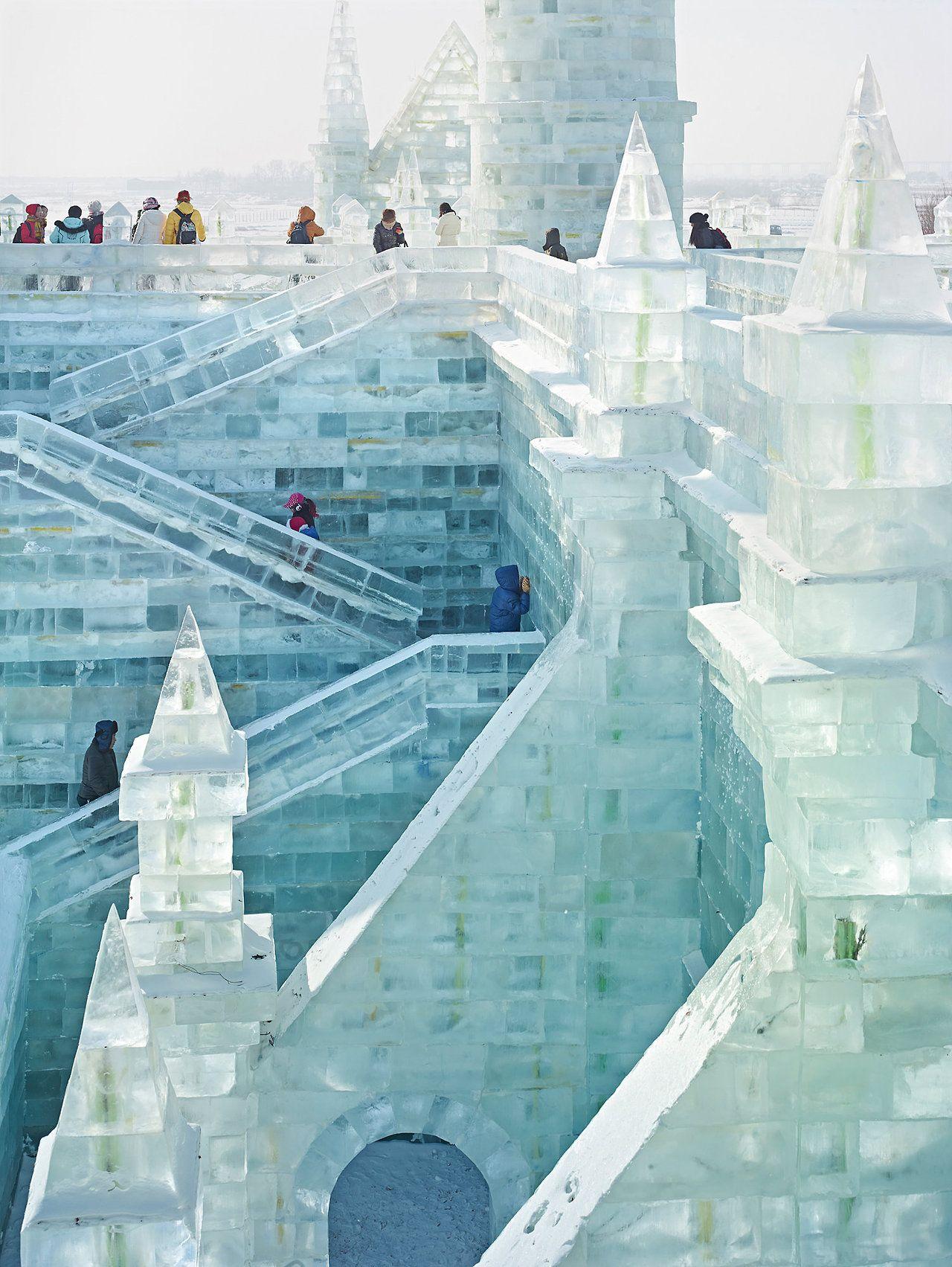 Sightseers Harbin International Ice And Snow