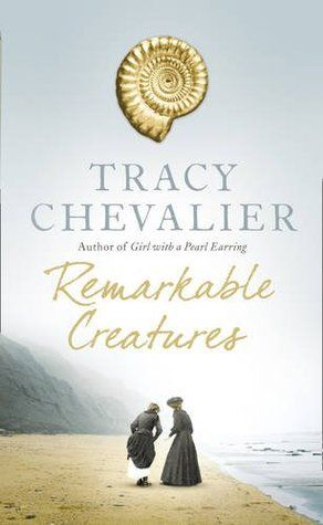 'Remarkable Creatures' by Travcy Chevalier is the story of Mary Anning, who has a talent for finding fossils, and whose discovery of ancient marine reptiles such as that ichthyosaur shakes the scientific community and leads to new ways of thinking about the creation of the world.