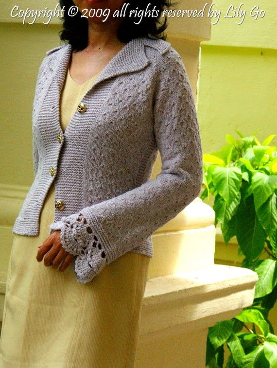 Sage Cardigan New Version Knitting Pattern in PDF File | Pinterest
