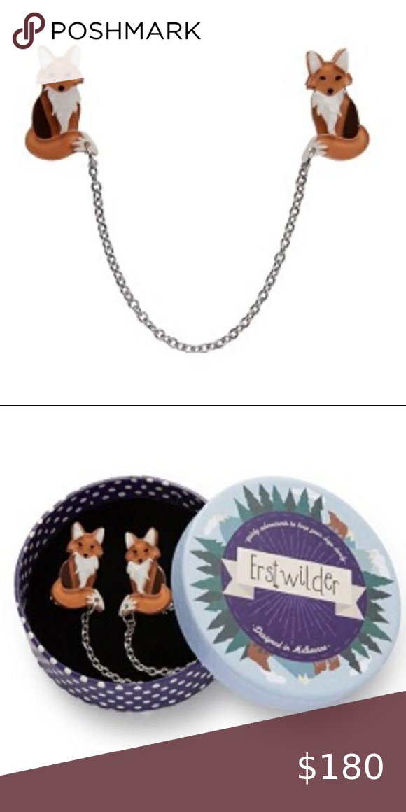 Offers Erstwilder Fox Cardigan Clips Only Available Until I Get A Bid On The Bay So Offers Quick If You Wanna Erstw In 2020 Cardigan Clips Women Jewelry Women Shopping