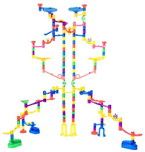 Marble Genius Marble Run Extreme Set 125 Translucent Marbulous Pieces 20 Glass Marbles Find Out Marble Run Glass Marbles Marble