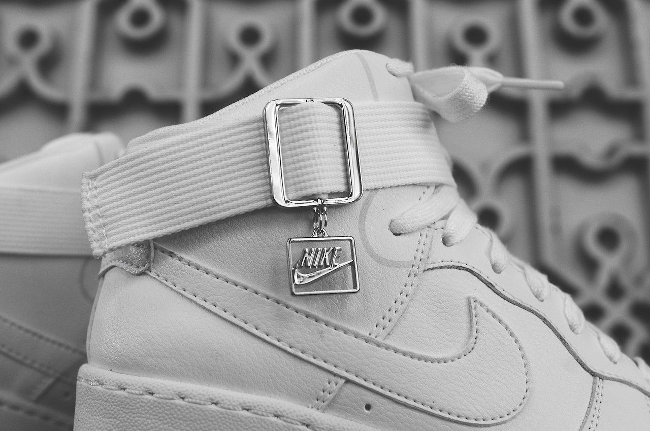 NIKE LUNAR FORCE 1 SKY HI 'ALL WHITE' via Kithnyc