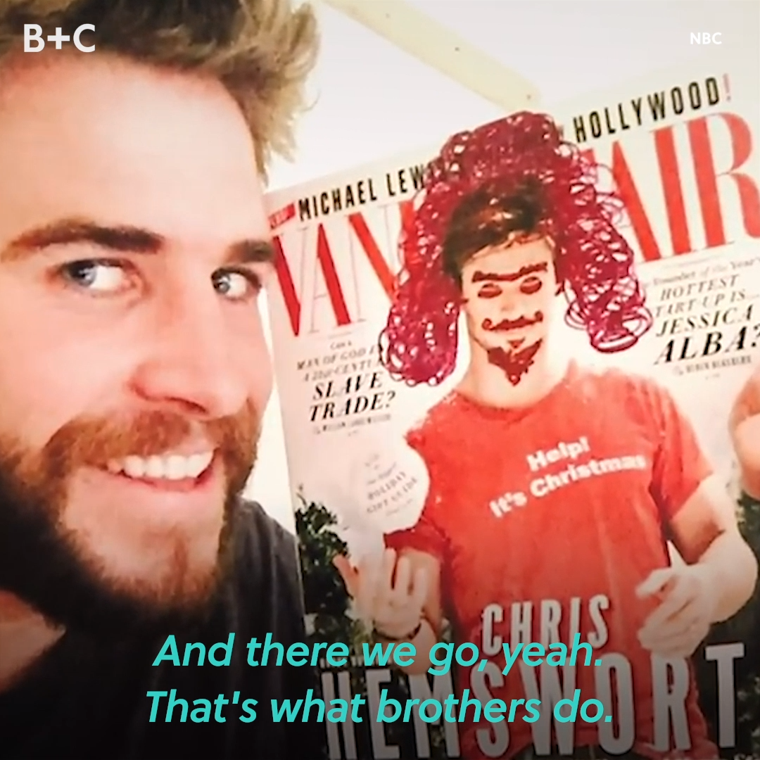 Brotherly love? 😂😜 We're looking at you, Liam Hemsworth, Chris Hemsworth, and Luke Hemsworth! Check out more of our fave celeb sibs in honor of Nationa lSiblings Day on brit.co.