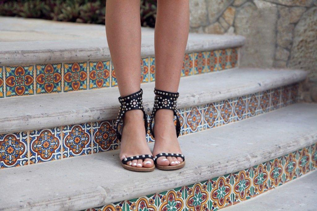 Studded sandals, Gladiator sandal boots