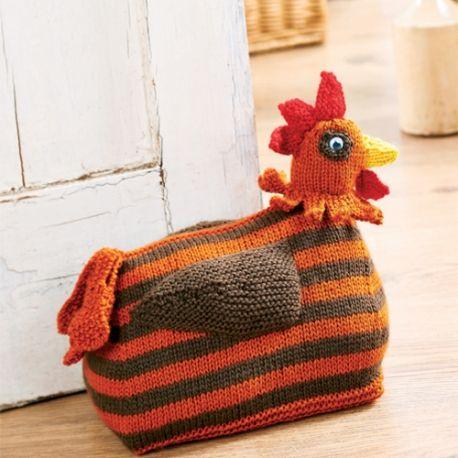 Knitted Chicken Doorstop Free Knitting Patterns Homewares