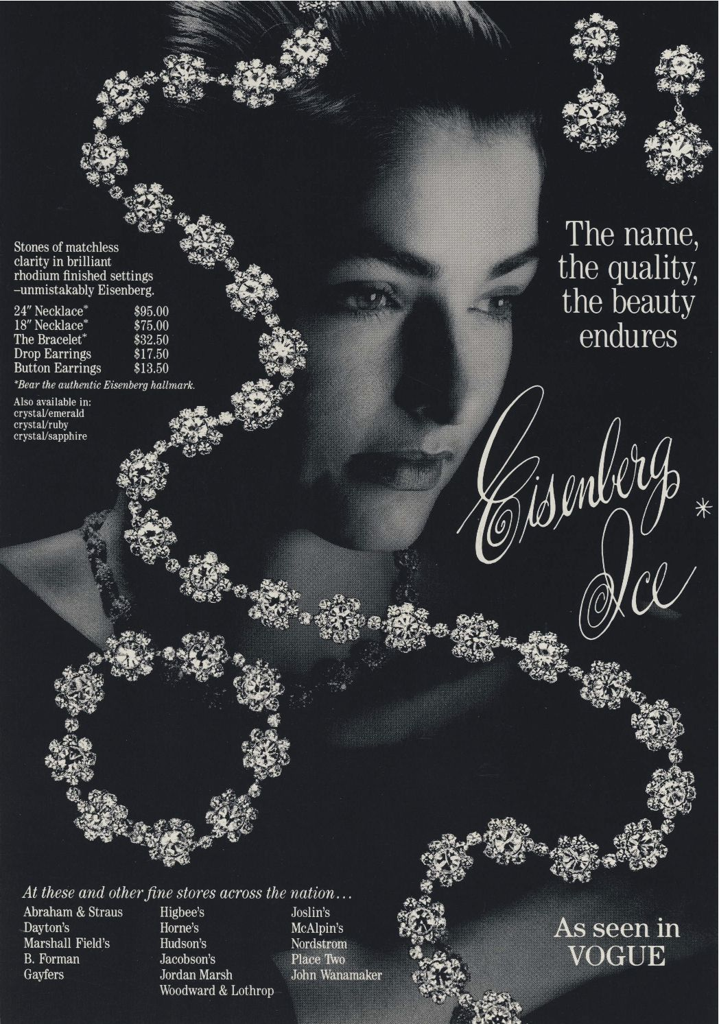 Magazine ads in the 1950s hyped the elegance of Eisenberg Ice.