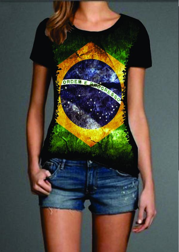 24da9191a Foto Camiseta Brasil Bandeira 2 Camiseta Do Brasil Feminina